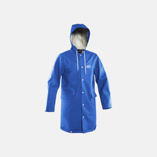 Blå (unisex) Grundéns klassiska regnrock i unisex- & dammodell med reklamtryck