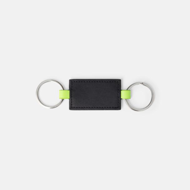Svart / Limegrön Dubbla nyckelringar med reklamtryck