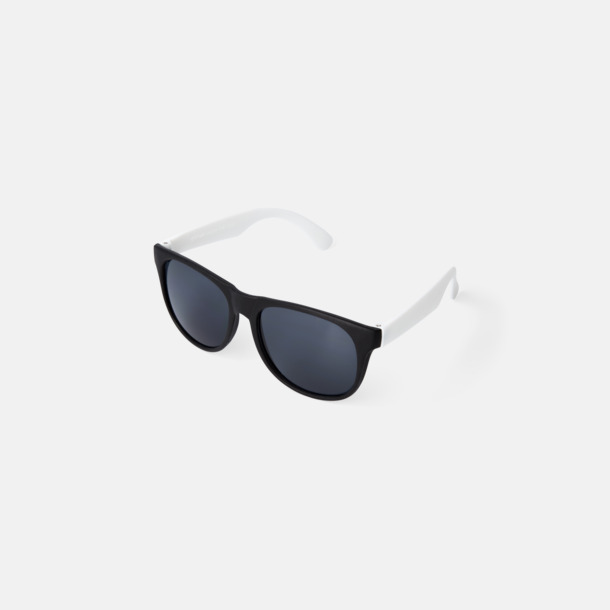 Vit Klassiska solglasögon med bågar i kontrasterande färg - med reklamtryck