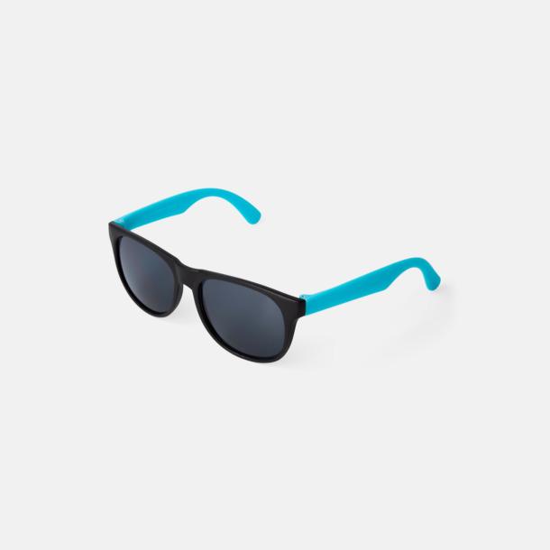 Aqua Klassiska solglasögon med bågar i kontrasterande färg - med reklamtryck
