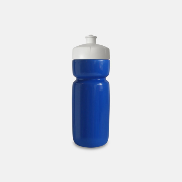 Blå Populära vattenflaskor i bioplast med reklamtryck