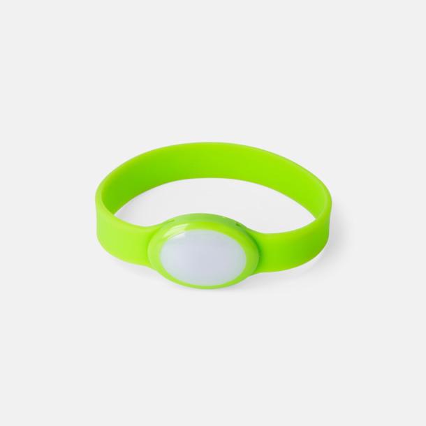 Limegrön Festivalarmband med skiftande LED-ljus - med reklamtryck
