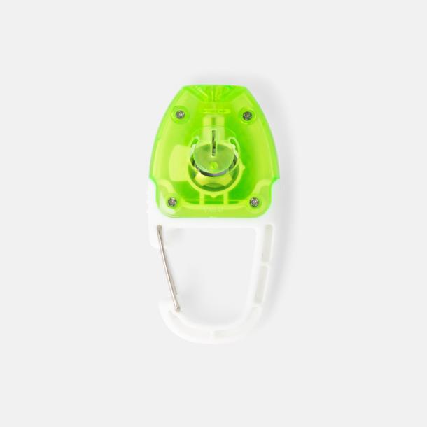 Vit / Limegrön Reflex med lampa och karbinhake med reklamtryck