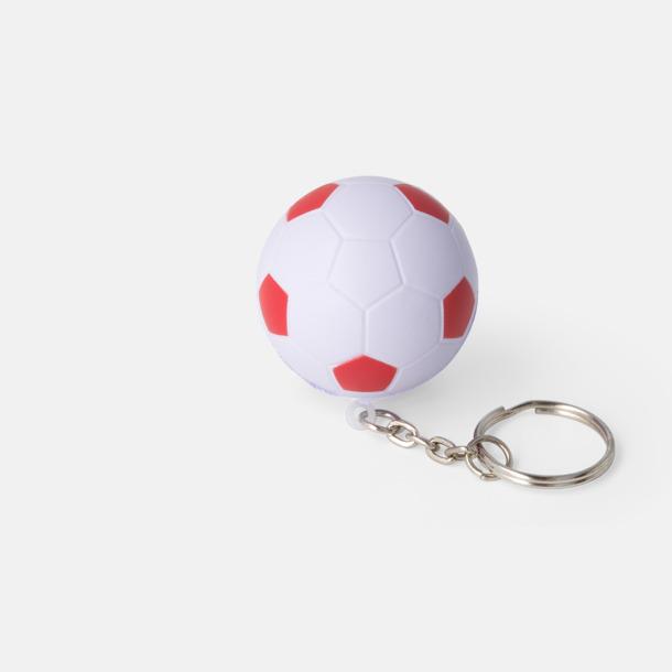 Vit / Röd Fotbollsnyckelringar med reklamtryck