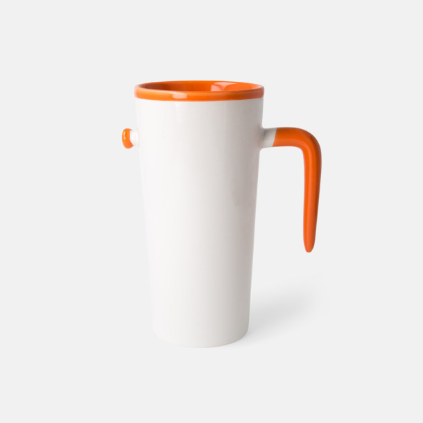 Orange Porslinsmuggar med eget tryck