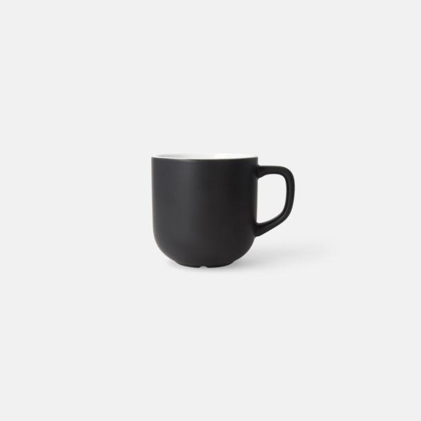 Svart 25 cl kaffemuggar med reklamtryck