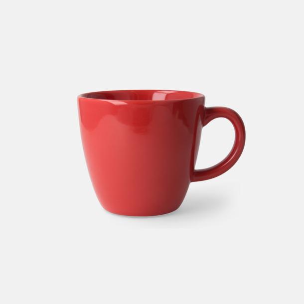 Röd Bastanta muggar med reklamtryck