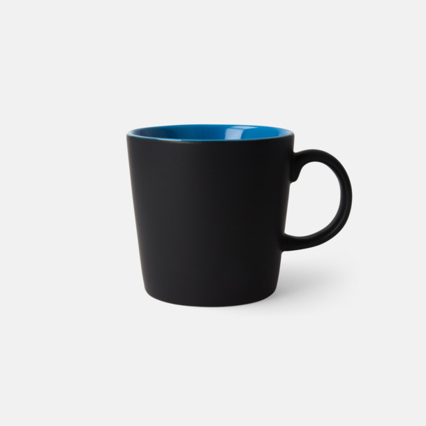 Svart/Blå (matt) Fina kaffemuggar med reklamtryck