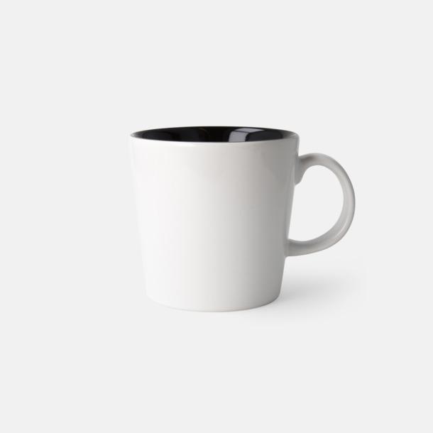 Vit/Svart (blank) Fina kaffemuggar med reklamtryck