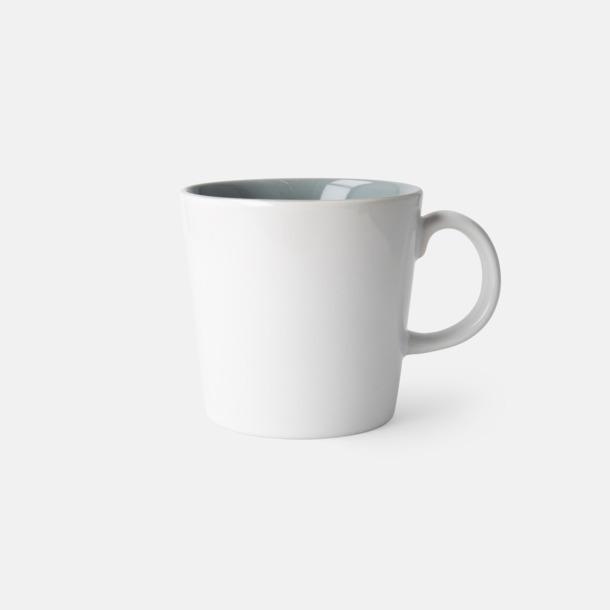 Vit/Grå (blank) Fina kaffemuggar med reklamtryck