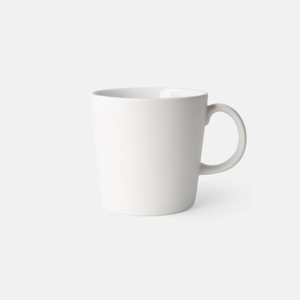 Vit (matt) Fina kaffemuggar med reklamtryck