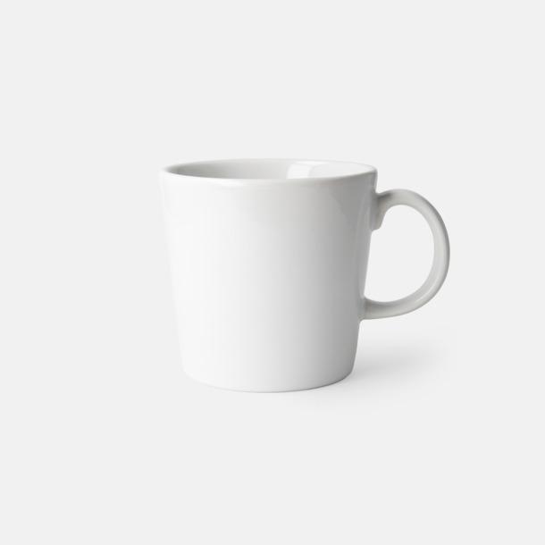 Vit (blank) Fina kaffemuggar med reklamtryck