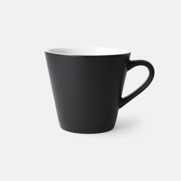 Svart/Vit (matt) Vackra kaffemuggar med reklamtryck