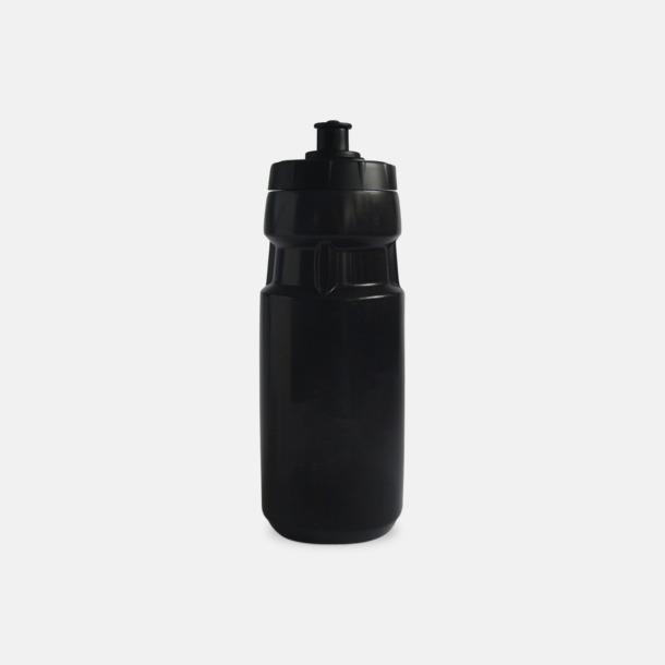 Svart Unika vattenflaskor i flera storlekar med reklamtryck