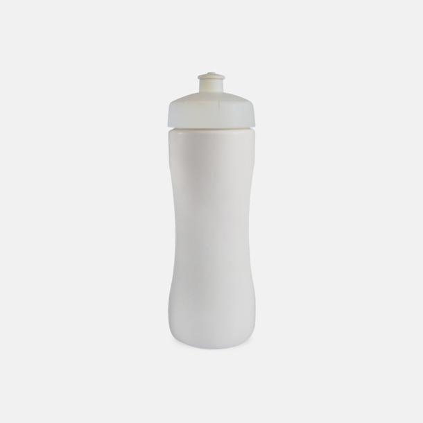 Vit Praktiska & snygga vattenflaskor med reklamtryck