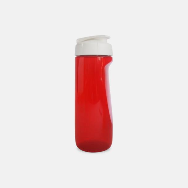 Röd (transparent) Stora vattenflaskor med reklamtryck