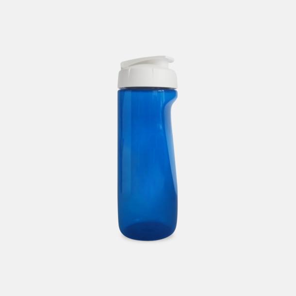 Blå (transparent) Stora vattenflaskor med reklamtryck