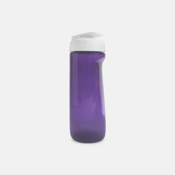 Lila (transparent) Stora vattenflaskor med reklamtryck
