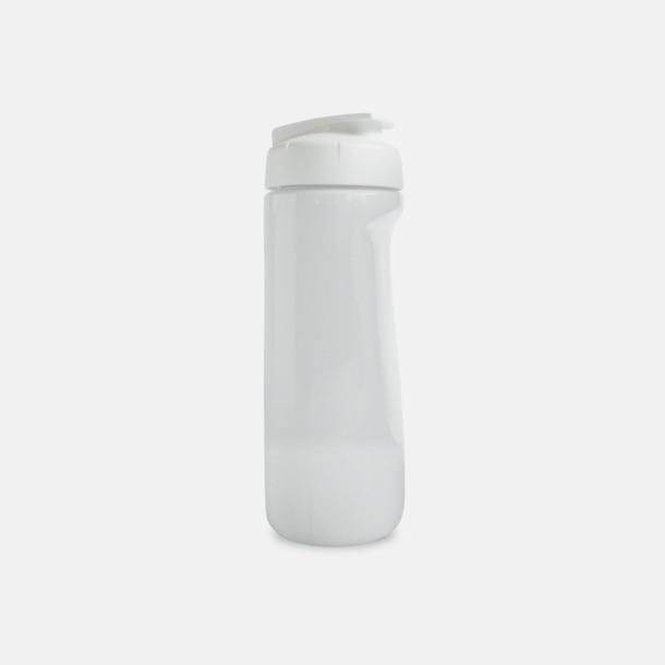 Vit (solid) Stora vattenflaskor med reklamtryck