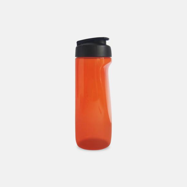 Orange (transparent) Stora vattenflaskor med reklamtryck
