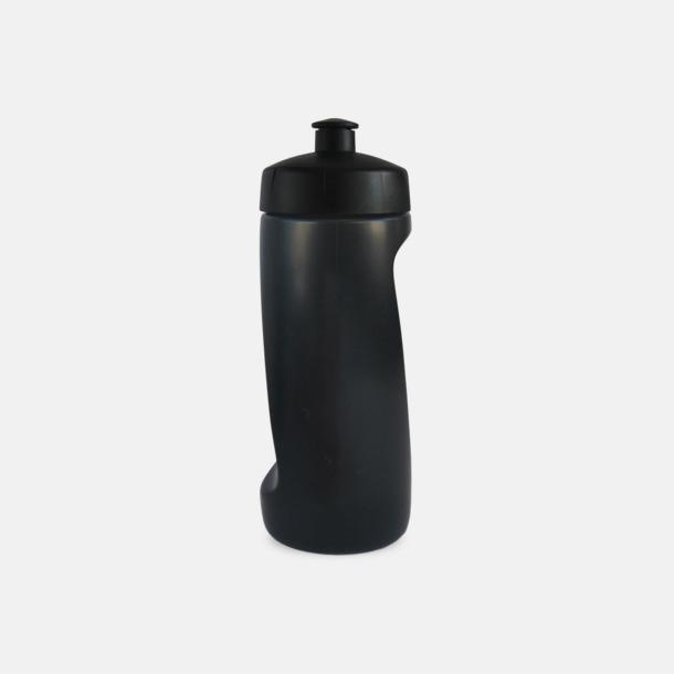 Svart Mjukare sportflaskor på 60 cl med reklamtryck