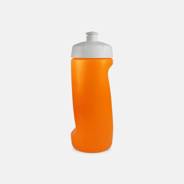 Orange Mjukare sportflaskor på 60 cl med reklamtryck