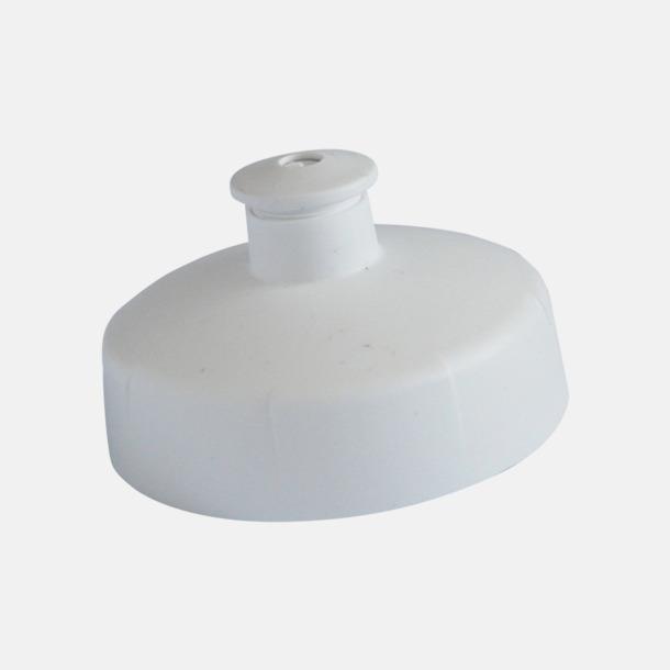 Vitt push-pull lock Unika vattenflaskor i flera storlekar med reklamtryck