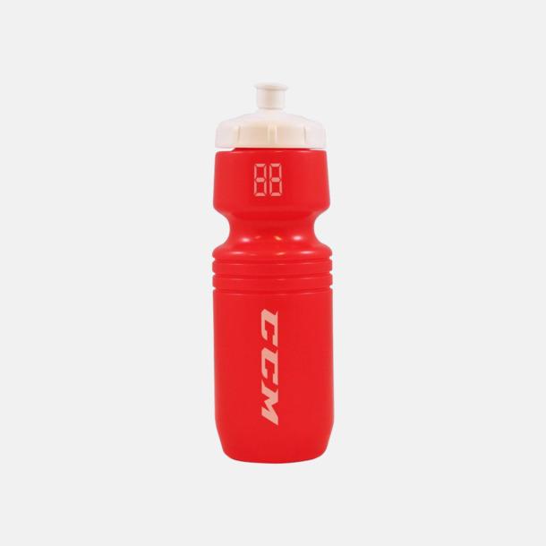 Röd/Cerise (transparent) Populära vattenflaskor med reklamtryck