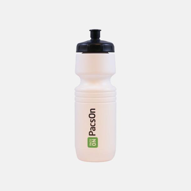 Vit (solid) Populära vattenflaskor med reklamtryck