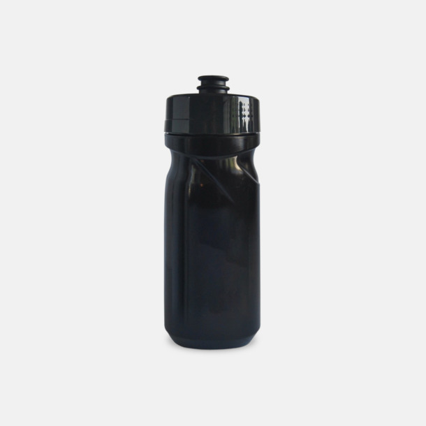 Svart (60 cl) Cykelflaska eller extra stor vattenflaska med reklamtryck