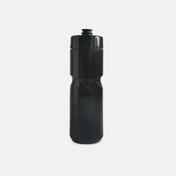 Svart (80 cl) Cykelflaska eller extra stor vattenflaska med reklamtryck