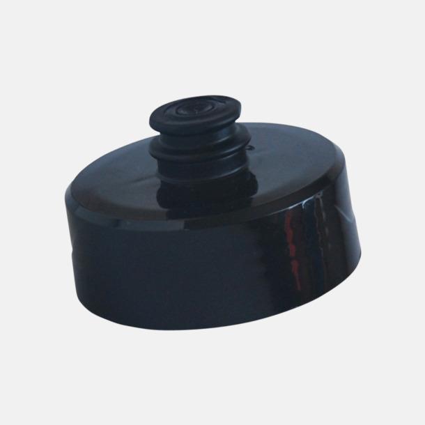 Lock (svart) Cykelflaska eller extra stor vattenflaska med reklamtryck