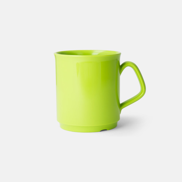 Limegrön 30 cl-plastmuggar med reklamtryck