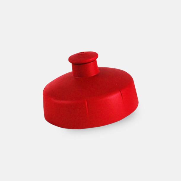Rött push-pull lock Mjukare sportflaskor på 60 cl med reklamtryck