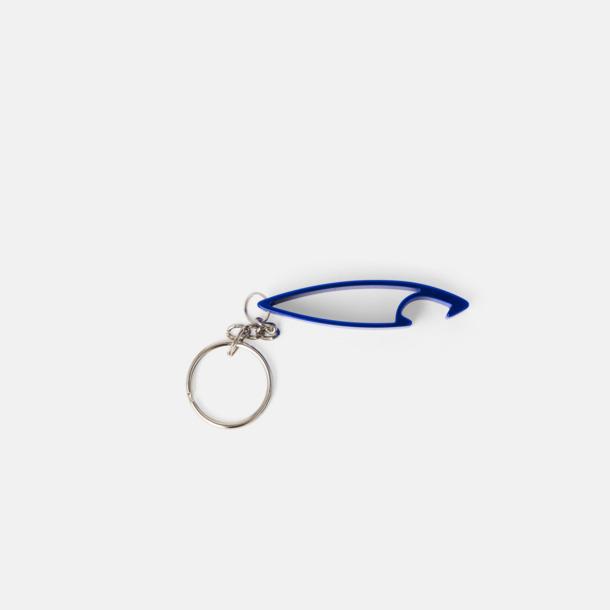 Haj (blå metallic) Nyckelring Aluminium medtryck.com