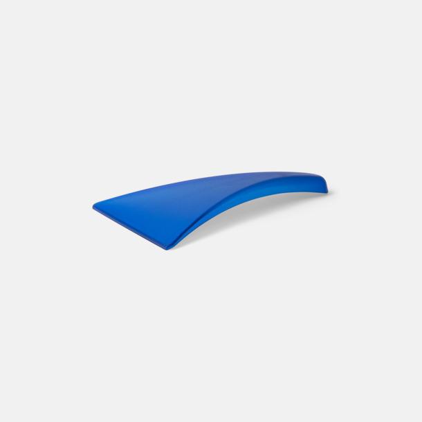 Transparent blå (PMS 286) Ergonomisk isskrapa med tryck