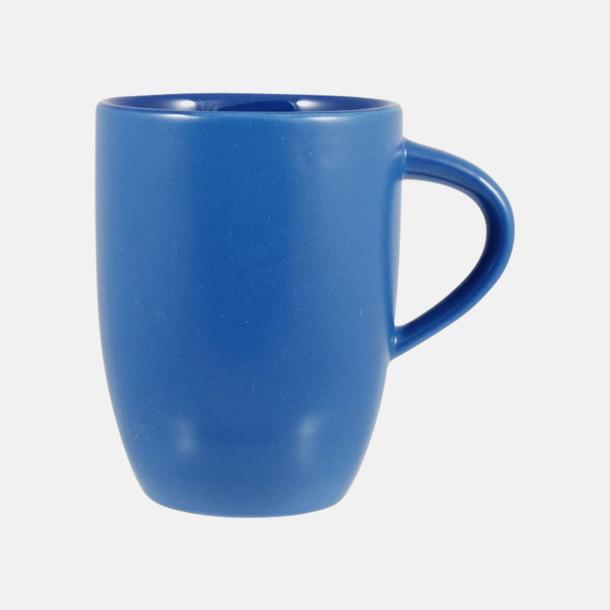 Blå Snygga kaffemuggar med reklamtryck