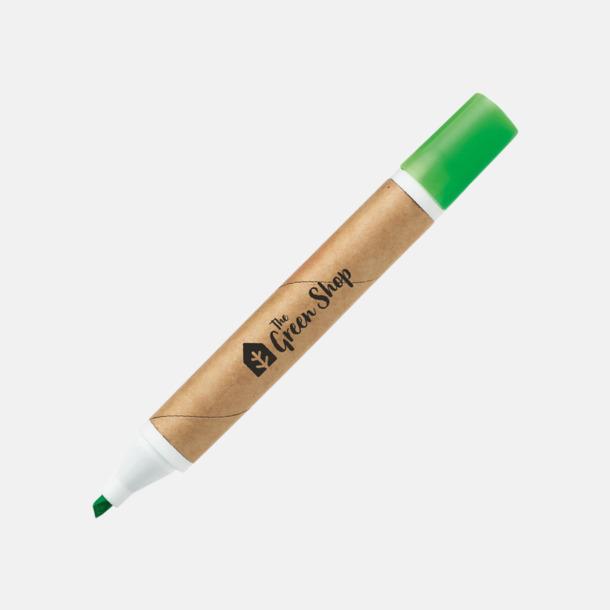 Grön (med reklamtryck) Miljövänliga överstrykningspennor med reklamtryck