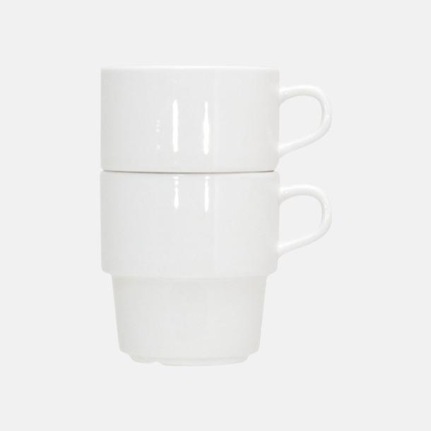Stapelbara 25 cl stapelbara kaffemuggar med reklamtryck
