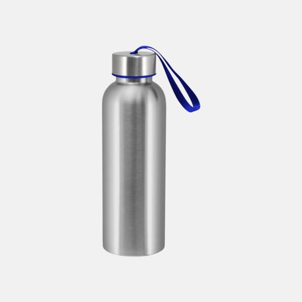 Reflexblå Trendiga metallvattenflaskor med reklamtryck