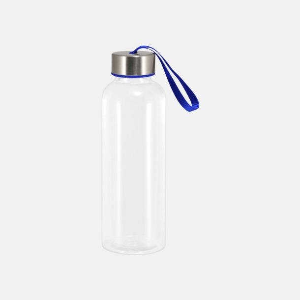 Reflexblå Tritanflaskor med färgaccent med reklamtryck