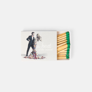 Plattare tändsticksaskar med 24 stickor - med reklamtryck