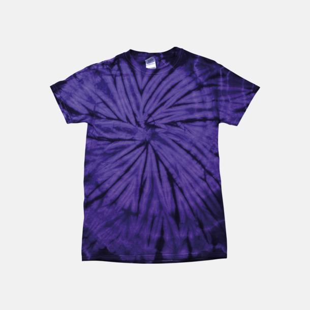 Spider Purple Batikfärgade t-shirts med reklamtryck