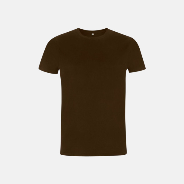 Mörkbrun Unisex eko t-shirt med reklamtryck
