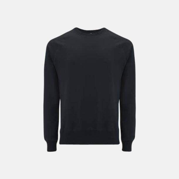 Svart Sweatshirt av återvunnet material med eget reklamtryck