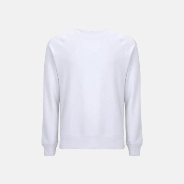 Dove White Sweatshirt av återvunnet material med eget reklamtryck