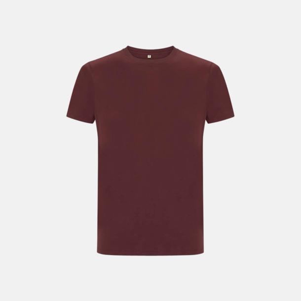 Burgundy Unisex eko t-shirts med reklamtryck