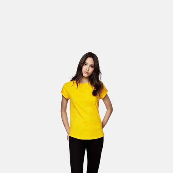 Eko dam t-shirts med rullade ärmar - med reklamtryck