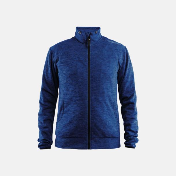 Deep Melange Leisure Jacket (herr) Craft funktionsjacka med huva i herr- och dammodell med reklamtryck