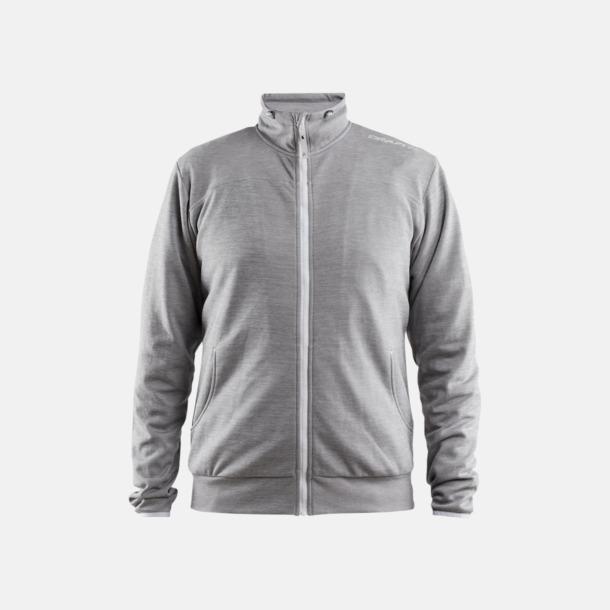 Grey Melange Leisure Jacket (herr) Craft funktionsjacka med huva i herr- och dammodell med reklamtryck